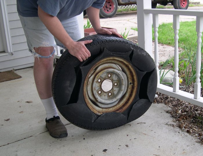 How to make a tire planter - Planters made from old tires ...